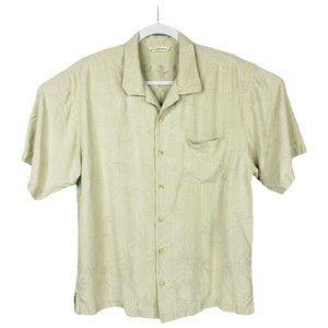 Tommy Bahama Silk Button Down Hawaiian Shirt LG